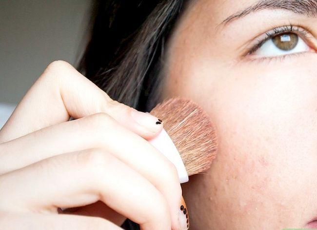 Prent getiteld Pas make-up volgens jou gesigsvorm Stap 3 toe
