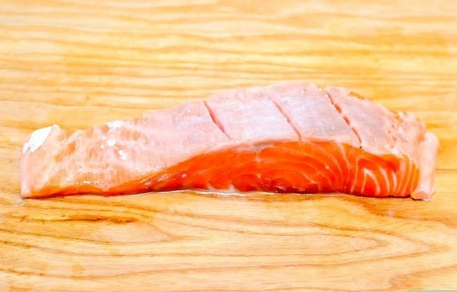 Prent getiteld Marinate Salmon Stap 16