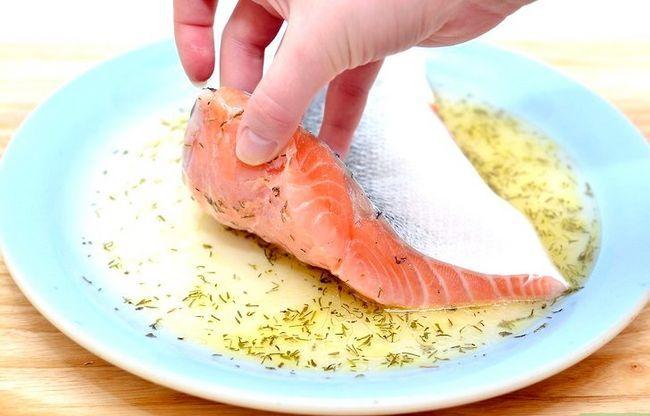Prent getiteld Marinate Salmon Stap 5