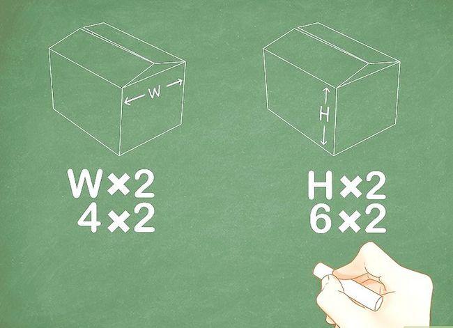 Beeld getiteld Meet die lengte x breedte x hoogte van die skeepsverpakking Stap 4