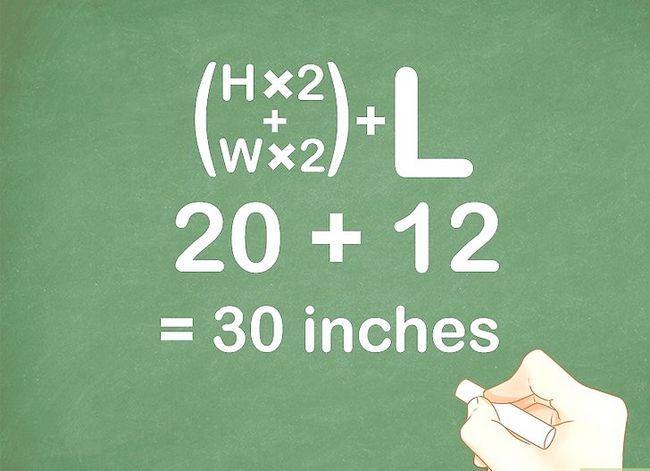 Prent getiteld Meet die lengte x breedte x hoogte van die skeepsdoeke Stap 6