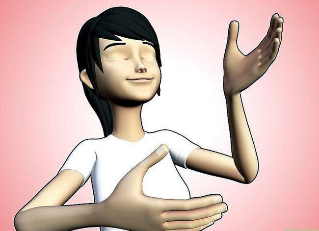 Prent getiteld Mediteer op liefde Stap 1
