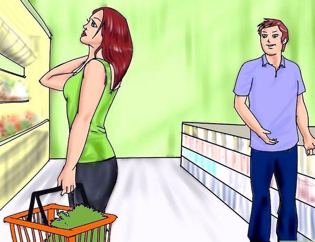 Prentjie getiteld Check out `n meisie sonder haar kennis neem Stap 4