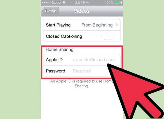 Prent getiteld Gedeelde gedeelde video`s van iTunes op `n iPhone Stap 2