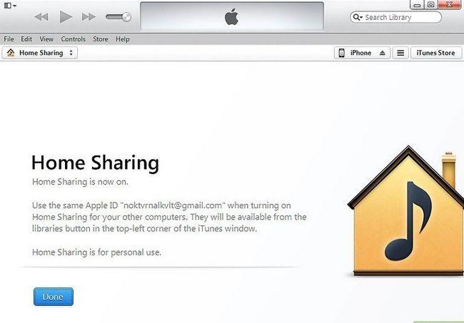 Prent getiteld Gedeelde gedeelde video`s van iTunes op `n iPhone Stap 3