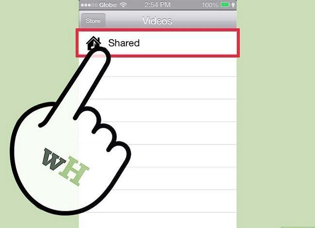 Prent getiteld Gedeelde gedeelde video`s van iTunes op `n iPhone Stap 6