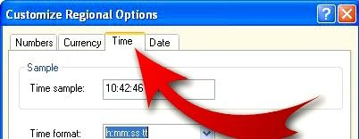 Beeld getiteld Verander Windows Time Display om jou naam Stap 4 in te sluit