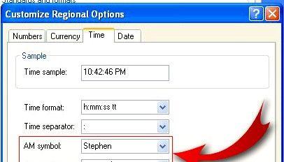 Prent getiteld Verander Windows Tydskerm om jou naam in te voeg Stap 5
