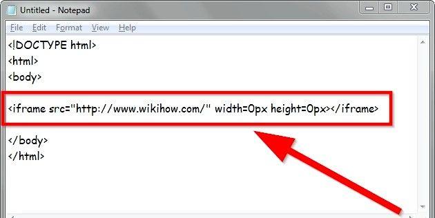 Beeld getiteld Verander grootte van iFrames in HTML Stap 2