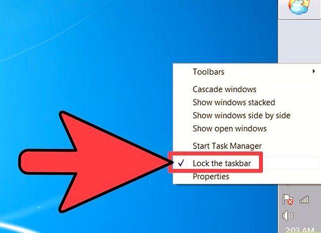 Beeld getiteld Wysig die grootte van u taakbalk op Windows Desktop Stap 4