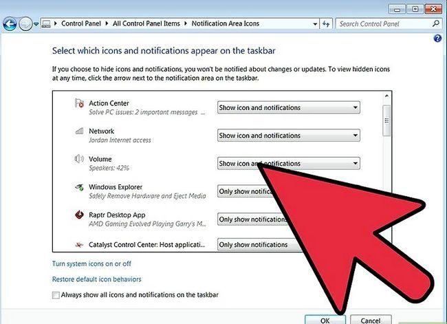 Beeld getiteld Wysig die grootte van u taakbalk op Windows Desktop Stap 7