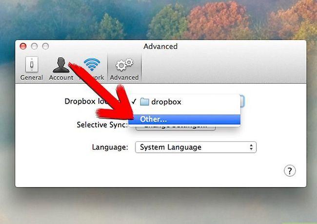 Prent getiteld Skuif die Dropbox gids na `n nuwe ligging Stap 9