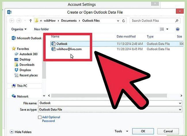 Prent getiteld Skuif Outlook-data na `n nuwe rekenaar Stap 16