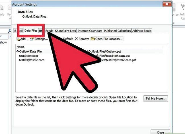 Prent getiteld Skuif Outlook-data na `n nuwe rekenaar Stap 3