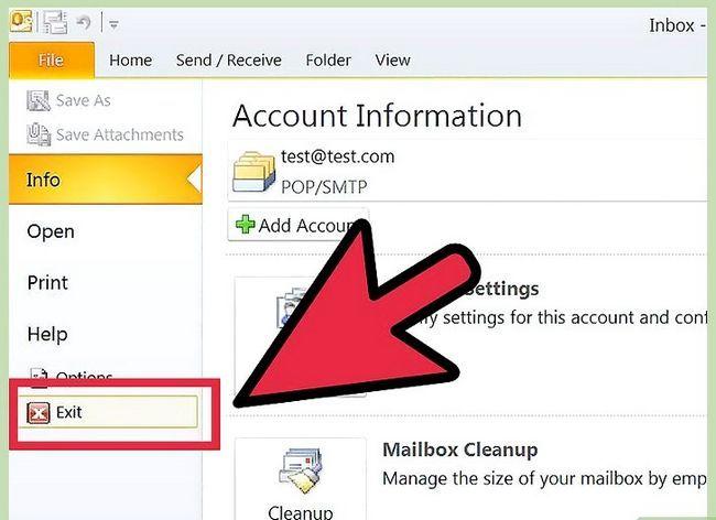 Beeld getiteld Skuif Outlook-data na `n nuwe rekenaar Stap 4