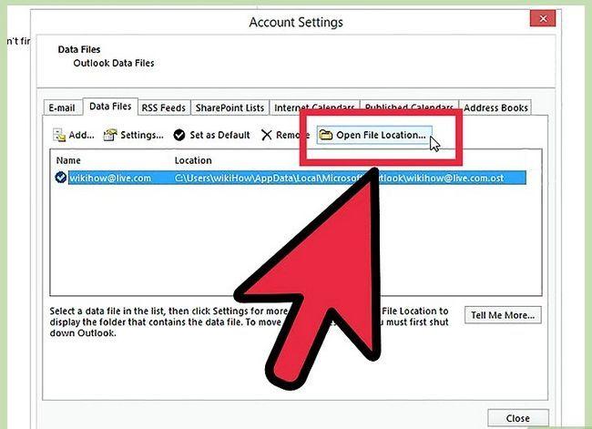 Prent getiteld Skuif Outlook-data na `n nuwe rekenaar Stap 9