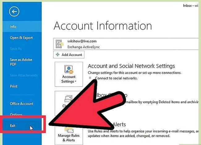 Prent getiteld Skuif Outlook-data na `n nuwe rekenaar Stap 10