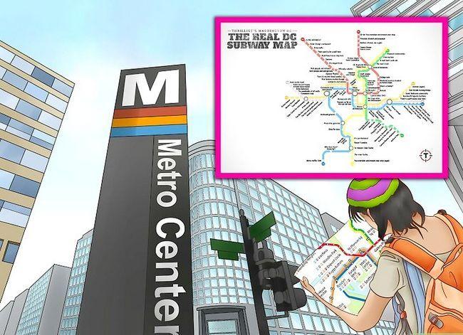 Prent getiteld Ry die Washington D.C. Metro Stap 4