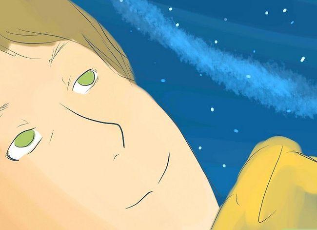Prent getiteld Stargaze Comfortably Stap 9