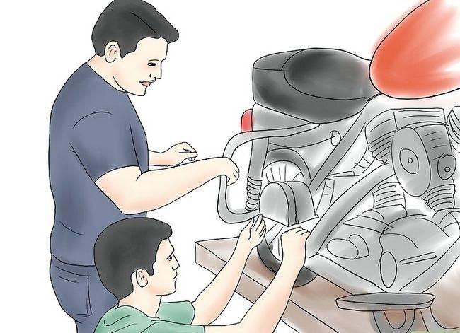 Prent getiteld Kry motorfiets herstel opleiding Stap 5