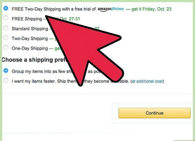 Prent getiteld Kry gratis verskeping op Amazon Stap 14