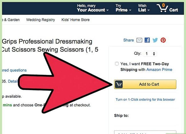 Prent getiteld Kry gratis verskeping op Amazon Stap 5