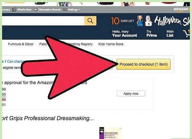 Prent getiteld Kry gratis verskeping op Amazon Stap 6