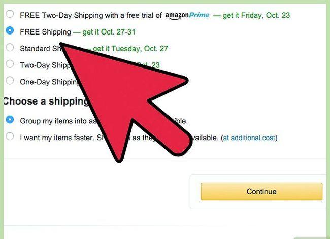 Prent getiteld Kry gratis verskeping op Amazon Stap 9
