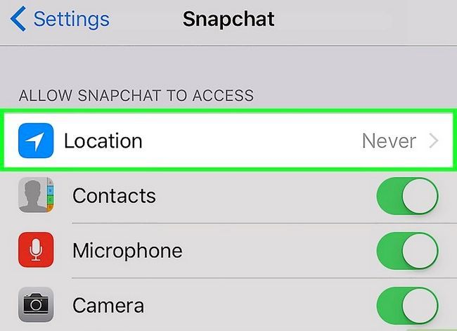 Prent getiteld Kry meer filters op Snapchat Stap 3