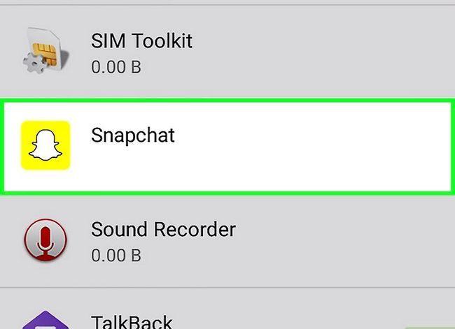 Prent getiteld Kry meer filters op Snapchat Stap 7