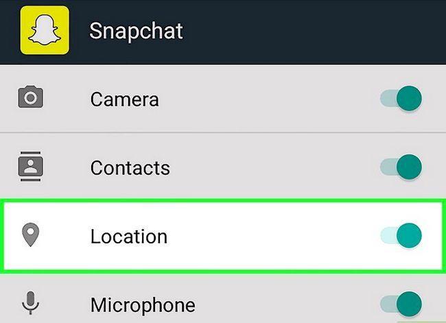 Prent getiteld Kry meer filters op Snapchat Stap 9