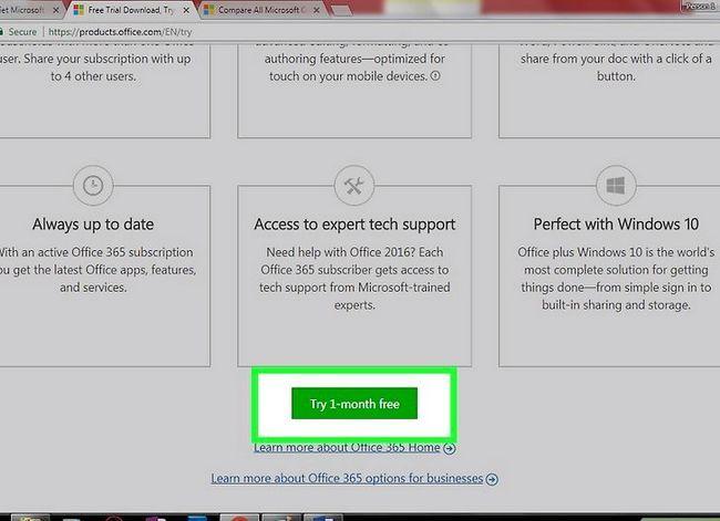 Prent getiteld Kry Microsoft Office gratis Stap 1
