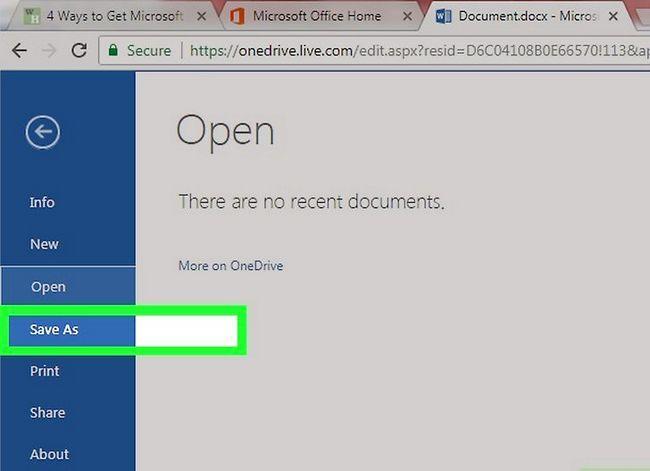 Prent getiteld Kry Microsoft Office vir gratis stap 13