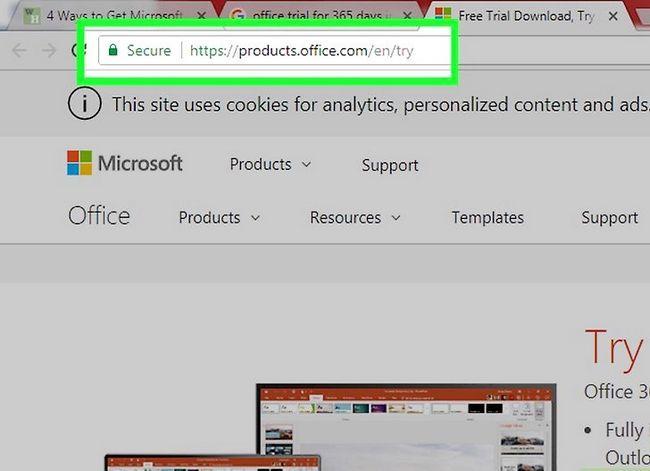 Prent getiteld Kry Microsoft Office vir gratis stap 2