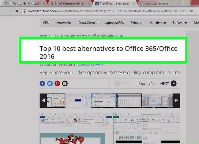 Prent getiteld Kry Microsoft Office vir gratis stap 22