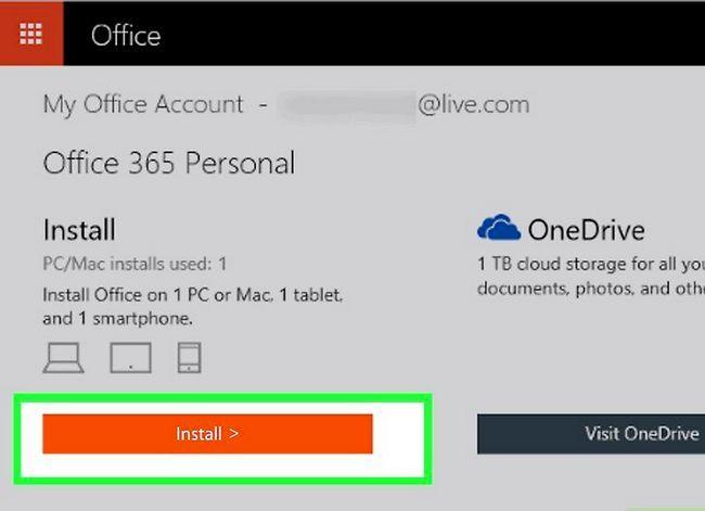 Prent getiteld Kry Microsoft Office vir gratis stap 6
