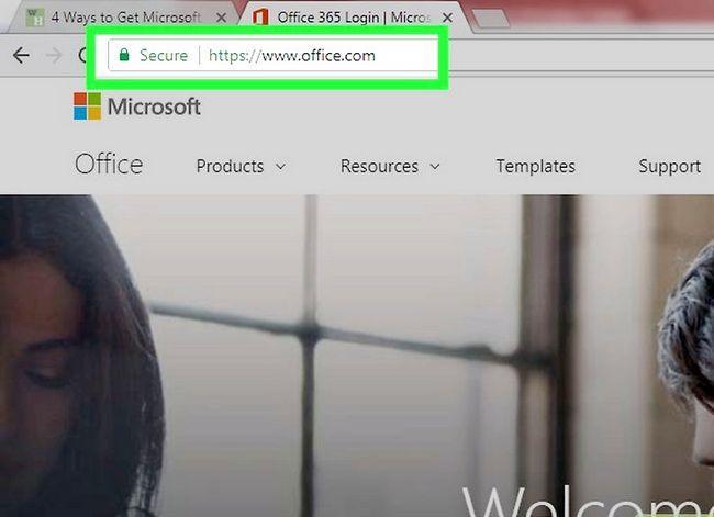 Prent getiteld Kry Microsoft Office gratis Stap 9