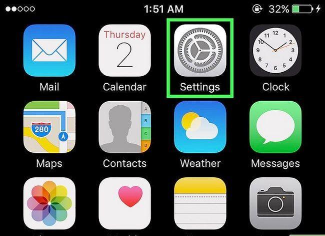 Prent getitel Steek jou telefoonnommer op `n iPhone Stap 1
