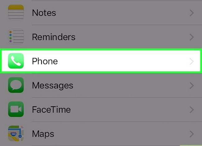 Prent getitel Steek jou telefoonnommer op `n iPhone Stap 2