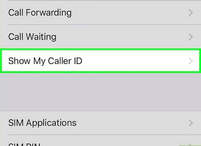 Prent getitel Steek jou telefoonnommer op `n iPhone Stap 3