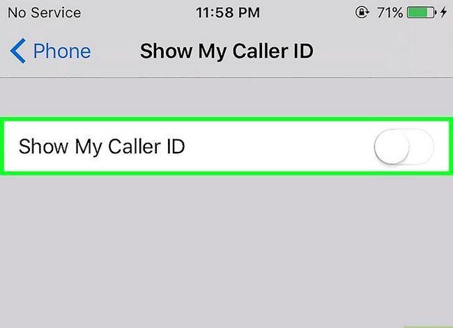 Prent getitel Steek jou telefoonnommer op `n iPhone Stap 4