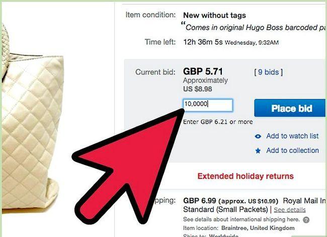 Beeld getiteld bod op eBay Stap 11