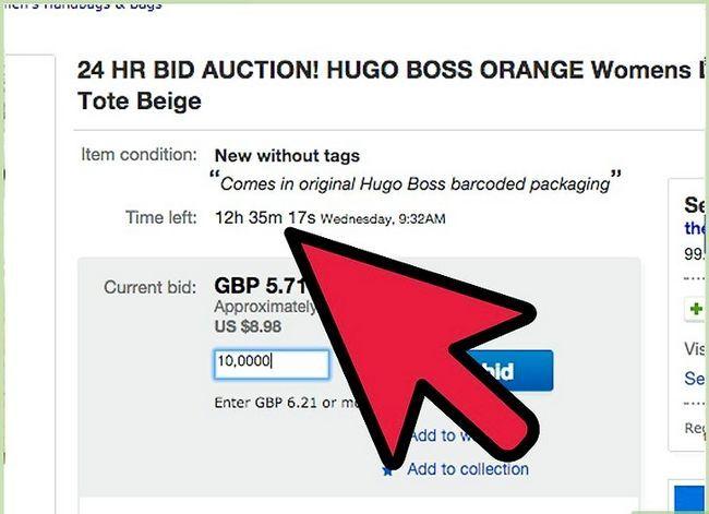 Beeld getiteld bod op eBay Stap 12