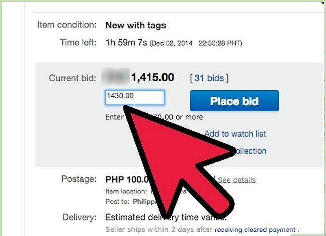 Beeld getiteld bod op eBay Stap 4