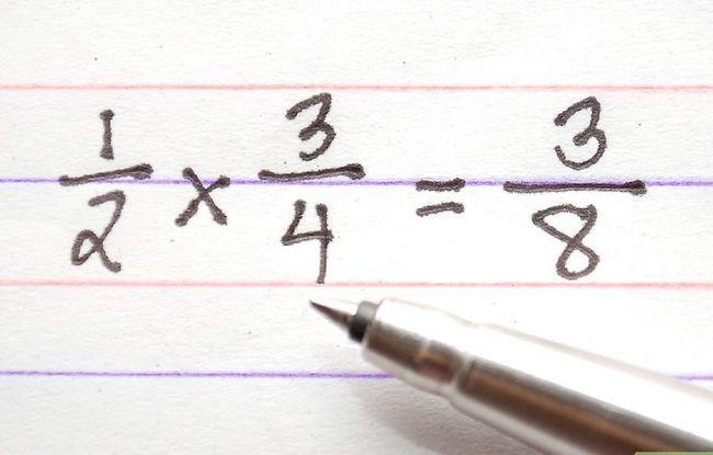 Prent getiteld Los Fraksie Vrae in Wiskunde Stap 9