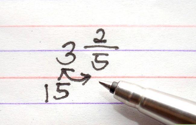 Prent getiteld Los Fraksie Vrae in Wiskunde Stap 5