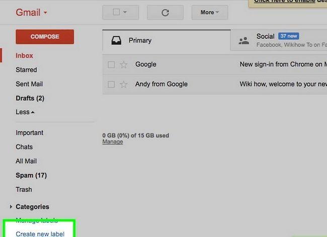 Prent getiteld Organiseer jou Gmail Inbox Stap 2