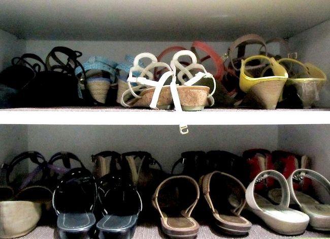 Prent getiteld Organiseer Skoene Stap 3