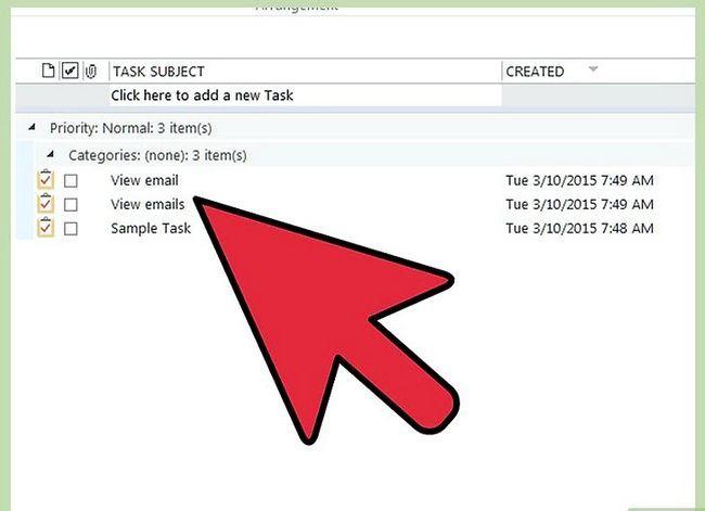 Prent getiteld Organiseer jouself met behulp van Microsoft Outlook Stap 5