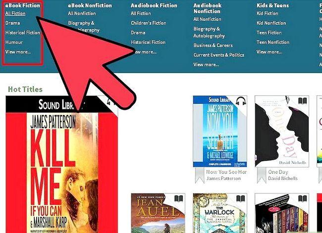Prent getiteld Leenboeke op Kindle Stap 5